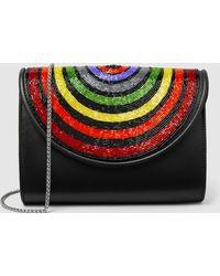 Sarah's Bag - Disco Rainbow Beaded Shoulder Bag - Lyst
