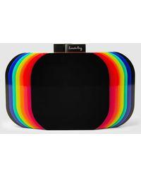 Sarah's Bag - Aura Rainbow Perspex Box Clutch - Lyst