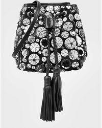Sarah's Bag - Embellished Canvas Shoulder Bag - Lyst