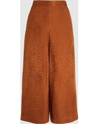 A.L.C. Animal Print Cropped Trousers - Brown