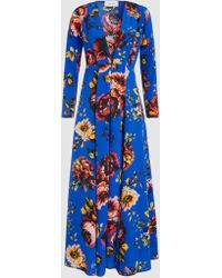 We Are Leone - Floral-print Silk Robe - Lyst