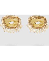 Ellery Pedigree Xl Eye Earrings - Metallic