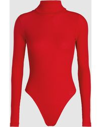 RE/DONE - Rib Turtleneck Bodysuit - Lyst