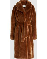 Tibi - Luxe Faux-fur Oversized Trench Coat - Lyst