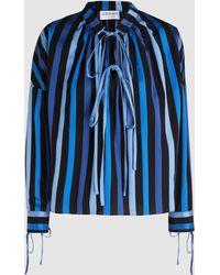 OSMAN - Jacky Striped Cotton Top - Lyst
