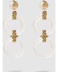Rosantica Resin Hoop And Gold-tone Drop Earrings - Metallic