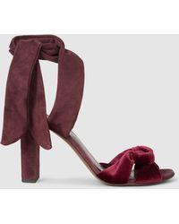 Neous - Amesiella Velvet And Suede Sandals - Lyst