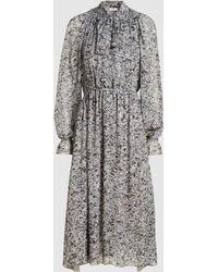 Rosetta Getty - Artist Print Chiffon Midi Dress - Lyst