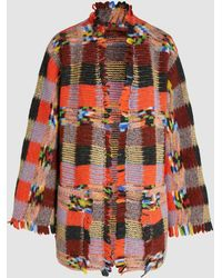 Missoni Frayed Crochet-knit Cardigan - Multicolour