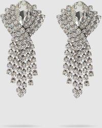 Alessandra Rich Crystal Pendant Earrings - Metallic