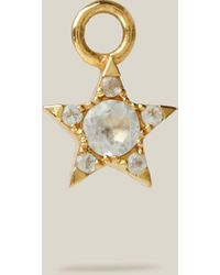 Otiumberg - Topaz-studded Gold Star Single Hoop Earring Charm - Lyst