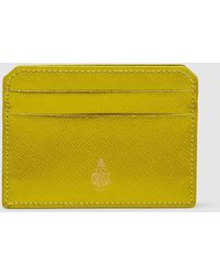 Mark Cross Saffiano Leather Card Holder - Yellow
