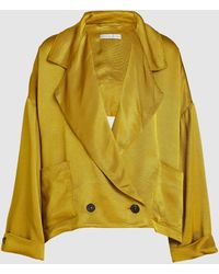 Palmer//Harding Emmy Faille Drape Back Blazer - Yellow