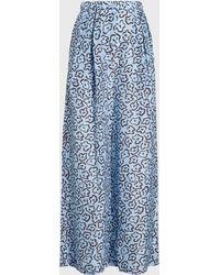 Christian Wijnants - Papaka Printed Silk Wide-leg Trousers - Lyst