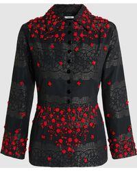 Ganni - Auburn Embellished Jacquard Jacket - Lyst