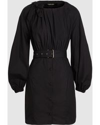 Rachel Comey Undone Belted Cotton Mini Dress