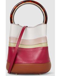 Marni - Panelled Leather Bucket Bag - Lyst