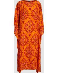 Eskandar - Printed Silk Kaftan - Lyst