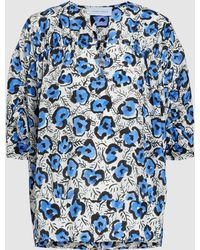 Christian Wijnants Tansu Printed Silk Top