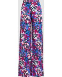 Saloni - Wide Leg Printed Trousers - Lyst