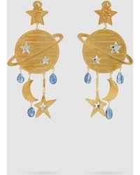 Mercedes Salazar Saturn Gold-tone Kyanite Earrings - Metallic