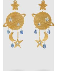 Mercedes Salazar Saturn Gold-tone Kyanite Earrings - Metallic