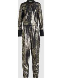 LAYEUR Barbara Woven Metallic Jumpsuit