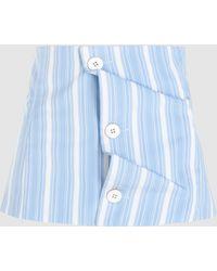 Jil Sander Striped Button Down Corset Belt - Blue