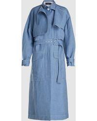 JOSEPH Warrick Trench Coat - Blue