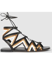 Alumnae - Stitched Mignon Gladiator Sandals - Lyst