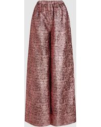 Taller Marmo - Immenso Tweed Wide-leg Trousers - Lyst