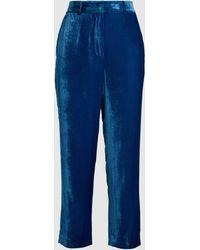 Sies Marjan - Willa Fluid Cropped Corduroy Silk-cotton Trousers - Lyst