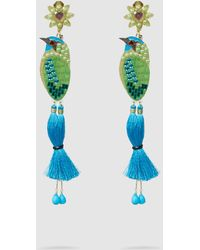 Mercedes Salazar Bird Embellished Gold-tone Clip Earrings