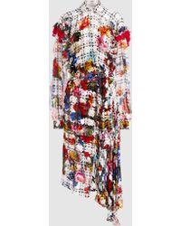Preen By Thornton Bregazzi - Thistle Devoré Satin-jacquard Midi Dress - Lyst