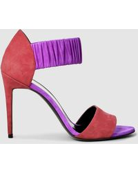 Pierre Hardy Color Block Ruche Sandals - Red