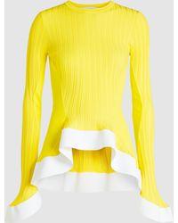 Esteban Cortazar Ruffled Hem Sweater - Yellow