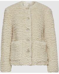 Mansur Gavriel Cashmere And Silk-blend Shearling Jacket - Natural