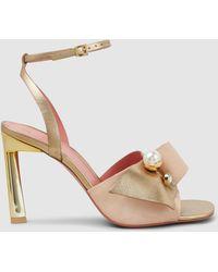 MERCEDES CASTILLO Keira Embellished Leather Sandals - Multicolour