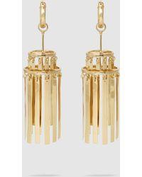 Ellery Iowa Small Gold-tone Chandelier Earrings - Metallic