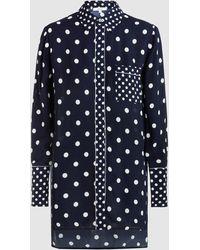 LAYEUR - Polka-dot Crepe Pyjama Shirt - Lyst