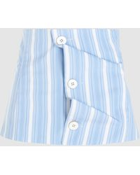 Jil Sander Striped Button Down Corset Belt - Blue