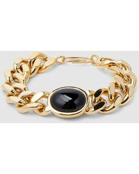 Aurelie Bidermann Bronx Chain Bracelet With Onyx - Multicolour