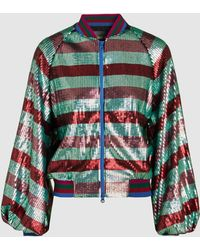 Stine Goya - Giselle Striped Sequinned Jacket - Lyst