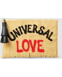 Sarah's Bag - Eddie Universal Love Embroidered Clutch - Lyst