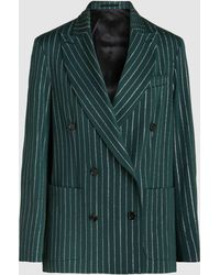 Golden Goose Deluxe Brand - Striped Double-breasted Blazer - Lyst
