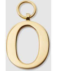 Chaos Gold-plated Alphabet O Charm - Metallic