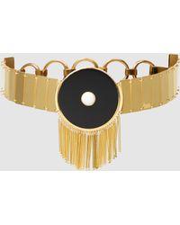 Monica Sordo - Lluvia Fringed Gold-plated Choker - Lyst