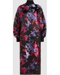 Taller Marmo - Leone Orientale Silk-jacquard Midi Dress - Lyst