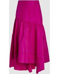 3.1 Phillip Lim Shirred Asymmetric Skirt - Pink