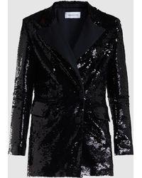 16Arlington Sequinned Tuxedo Jacket - Black